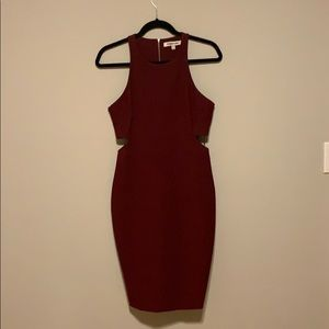 Elizabeth and James Dark Cherry Dress
